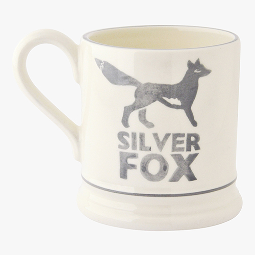 Silver fox 1/2 pint mug 285ml
