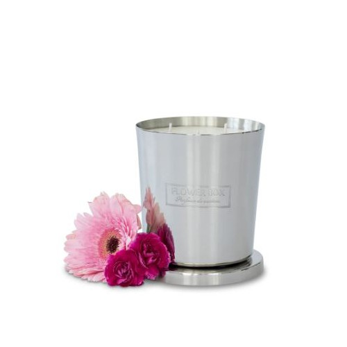 Candle Pink Flowers 1kg