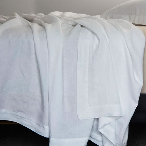Bemboka Queen Fitted Sheet in White