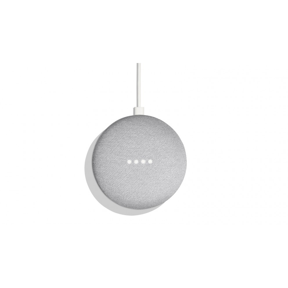 Google - Home Mini Hands-Free Assistant - Chalk