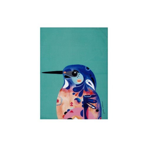 MW P.Cromer Tea Towel Azure Kingfisher