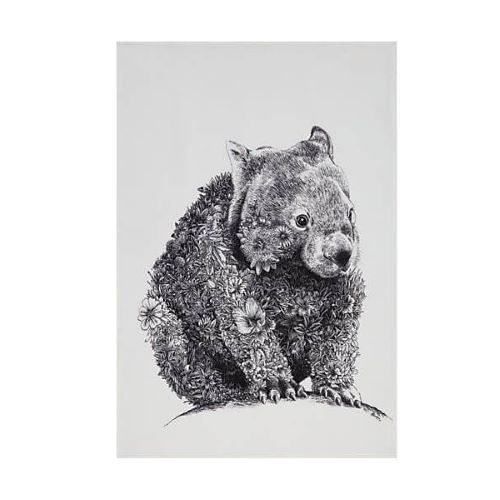 Marini Tea Towel Wombat