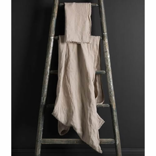 Jacquard Linen Hand Towel Natural