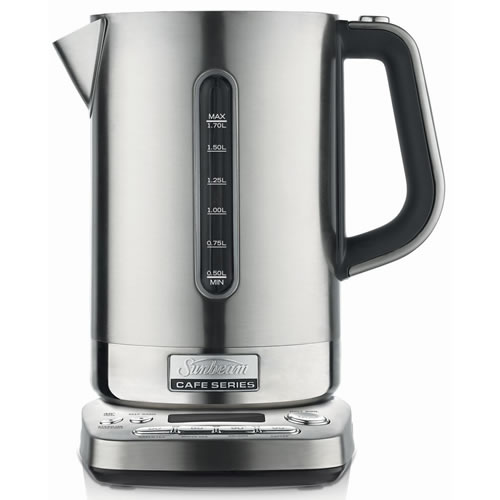Sunbeam Cafe Series Quiet Shield 1.7 Litre Kettle Stainless Steel