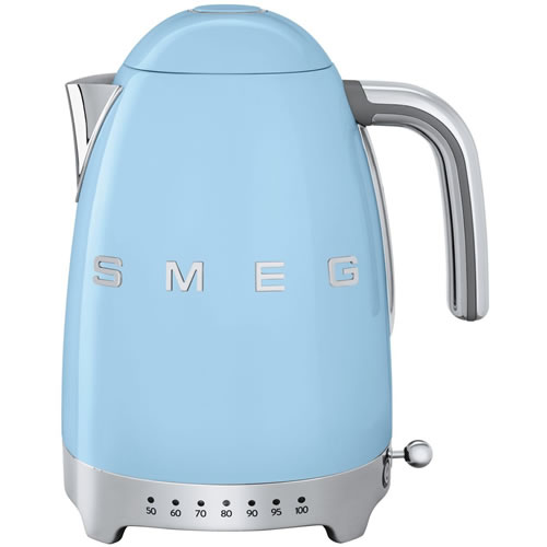 Smeg 50's Style Variable Temperature 1.7 Litre Kettle Pale Blue