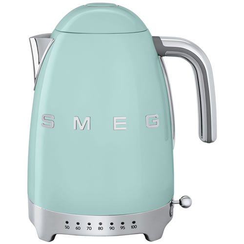Smeg 50's Style Variable Temperature 1.7 Litre Kettle Pale Green