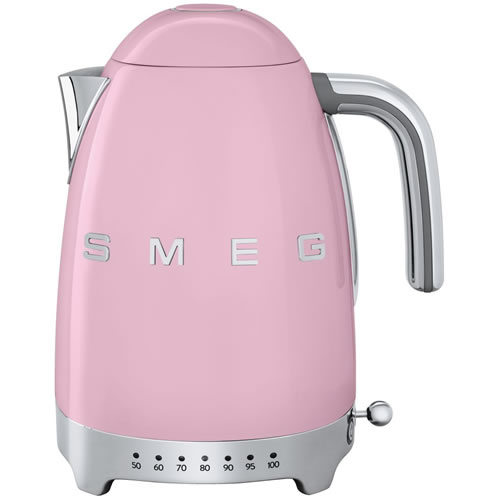 smeg 50's Style Variable Temperature 1.7 Litre Kettle Pink