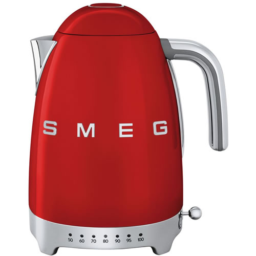 Smeg 50's Style Variable Temperature 1.7 Litre Kettle Red