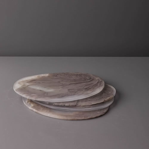 Resin Boards in Taupe Marble