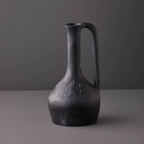 Resin Large Jug in Black Marble