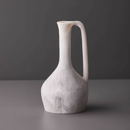Resin Large Jug in Dovetail Marble