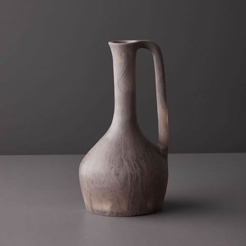 Resin Large Jug in Taupe Marble