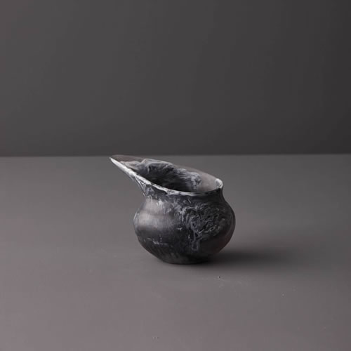 Resin Small Jug in Black Marble