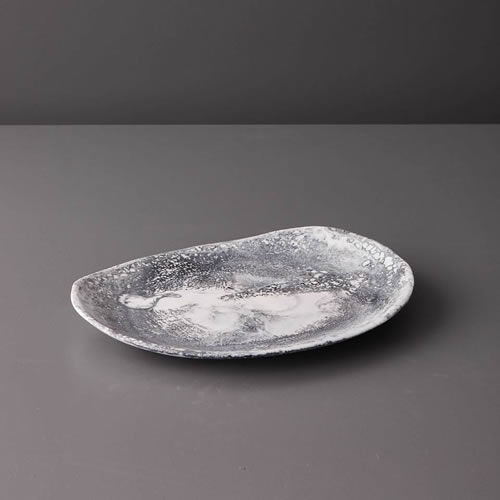 Resin Medium Platter in Grey Marble
