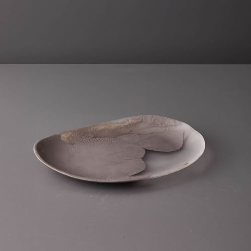 Resin Medium Platter in Taupe Marble
