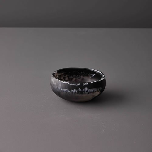 Resin Ramekin in Black Marble