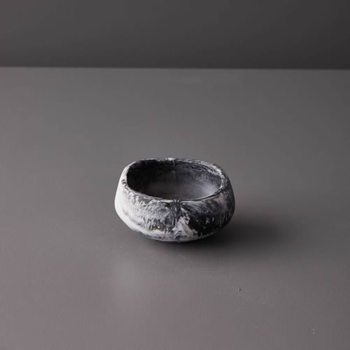 Resin Ramekin in Grey Marble