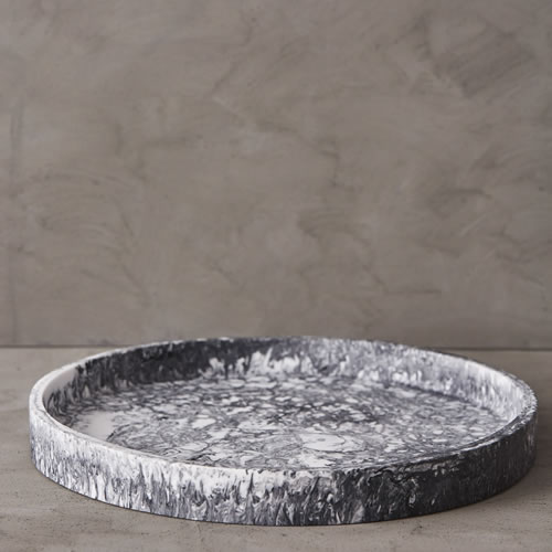 Grey Marble Resin Large Tray