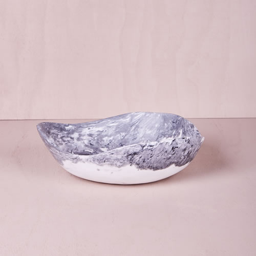 Resin Medium Bowl in Ash Marble