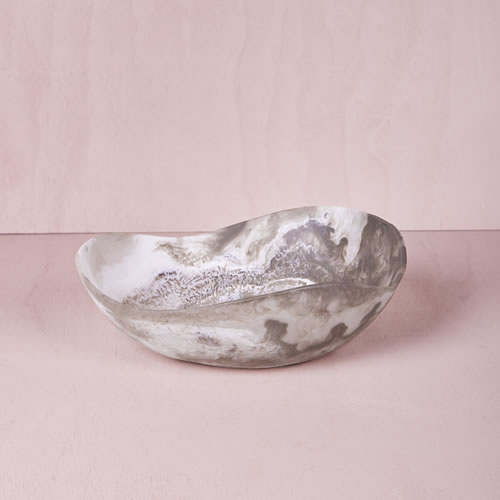 Resin Medium Bowl in Smoke Marble