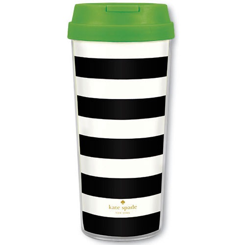 Travel Mug Black Stripe