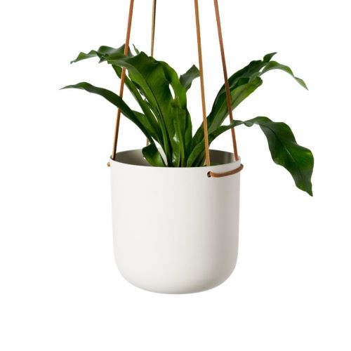Hanging Planter in White