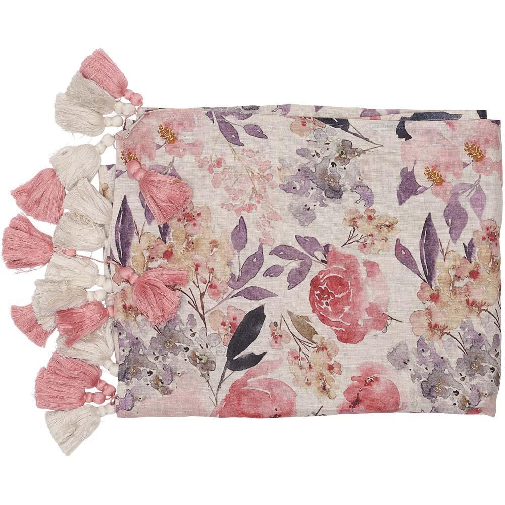 Posy Rose Floral Throw