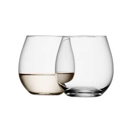 Wine Stemless White Set of 4