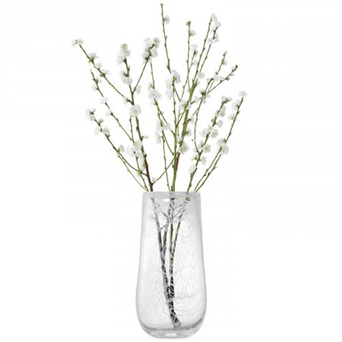 Cotton Vase 38cm in White