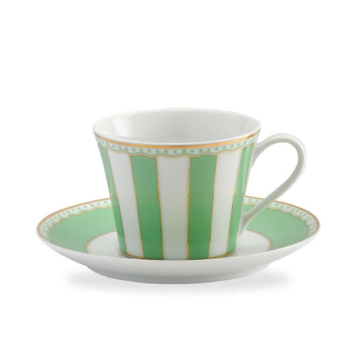 Carnivale Cup & Saucer Set in Apple Green
