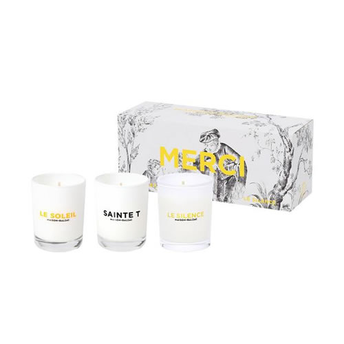 Merci Mini Candle Trio