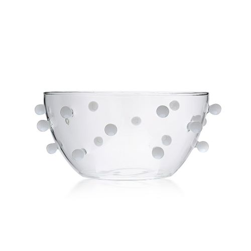 Pomponette Bowl White Dots