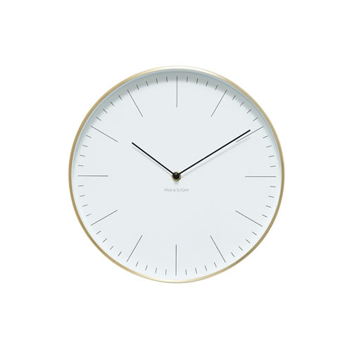 Maple 30cm Clock Gold