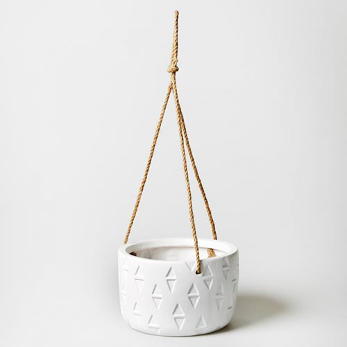 Large Arrow Head Planter White
