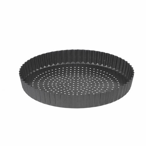 CrispyBake Non Stick Loose Base Rnd Flan Quiche Tin