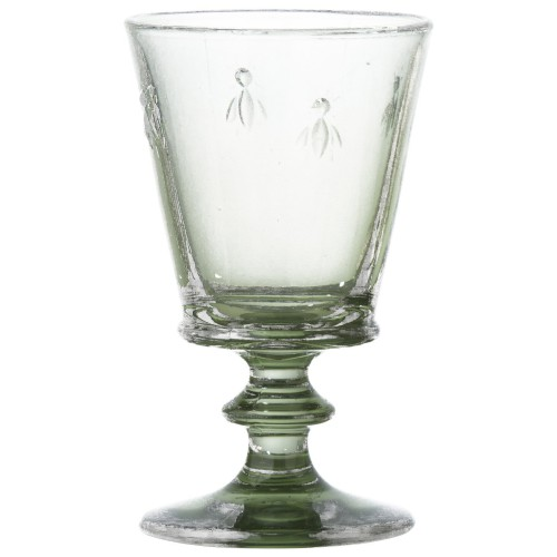 Bee Green Wine Glass