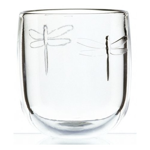 Dragonfly Clear Short Tumbler