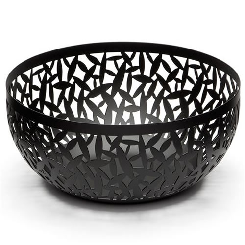 Cactus Large Fruit Bowl in Black