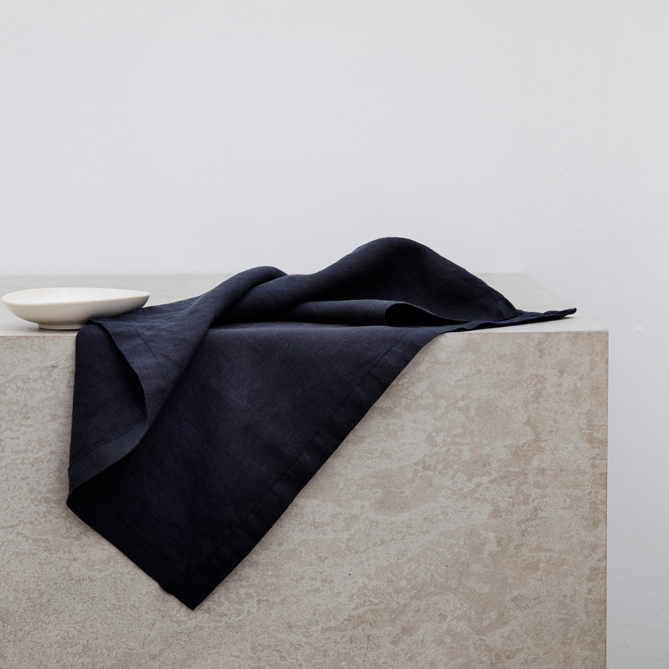 Linen Table Napkins Set of Four Navy