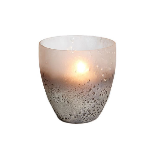Smokey Metallic Strato Votive 11cm