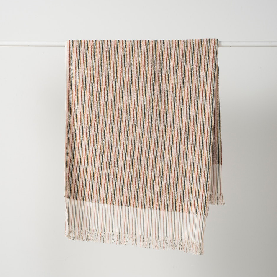 Alice Stripe Terry Hand Towel Multicoloured