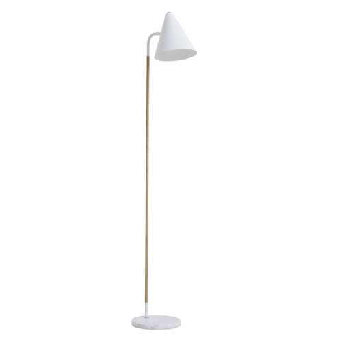 Olive Floor Lamp White With Marble Base