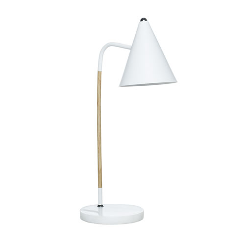 Olive Tamp Lamp White with Marble Base
