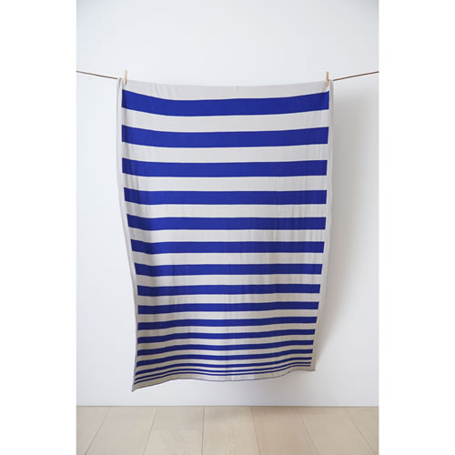 K&K Original Throw in Klein Blue and Grey