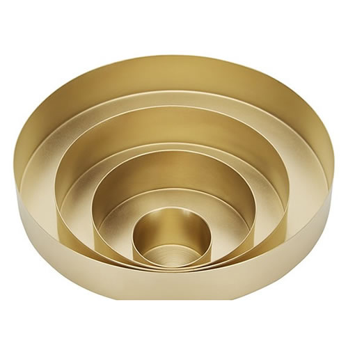 ORBIT Trays Small Brass