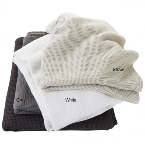 Oscar Cotton Waffle Blanket in White 240x270cm