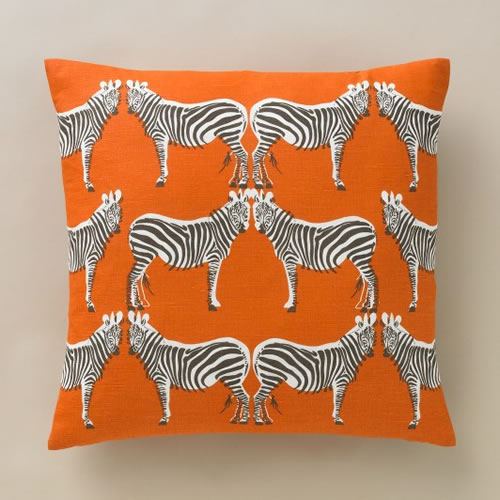 Zebra Tangerine Pillow 50x50