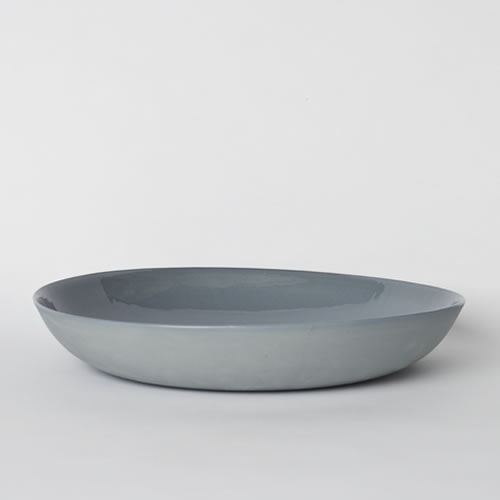 Pebble Bowl Large in Steel