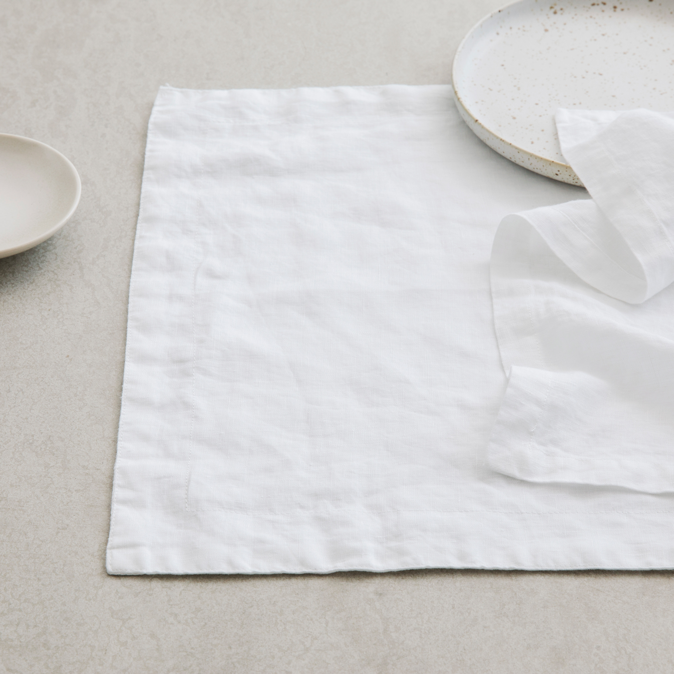 Linen Placemats White Set Of 4