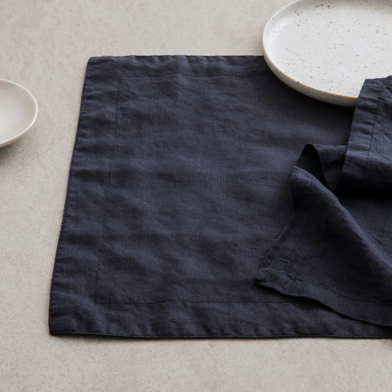 Linen Placemats Navy Set Of 4